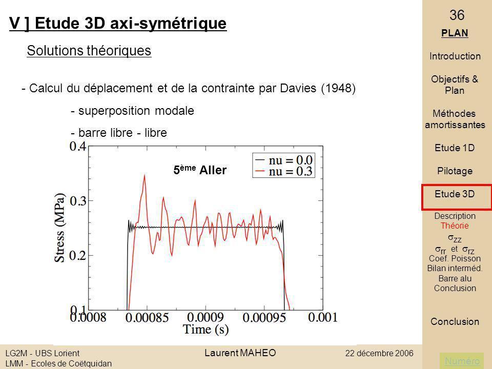 V ] Etude 3D axi-symétrique